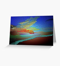 Abstract Art seascape and Sky Greeting Card