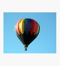 Hot air balloon floating in the air.  Photographic Print