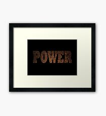 Power (Rust) Framed Print