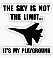 Sky Playground Military Plane Sticker