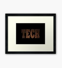 Tech (Rust) Framed Print