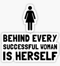 Successful Woman Sticker
