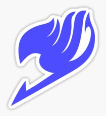 Fairy Tail Logo (Blue) Sticker