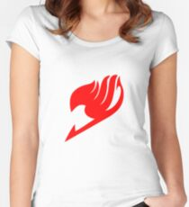Fairy Tail Logo (Red) Women's Fitted Scoop T-Shirt