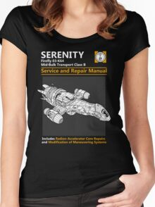 Shiny Service and Repair Manual Women's Fitted Scoop T-Shirt