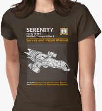 Shiny Service and Repair Manual Womens Fitted T-Shirt