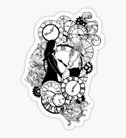 Time Led Me To You (Line Art Version) Sticker