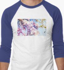 Cherry flowers Men's Baseball ¾ T-Shirt