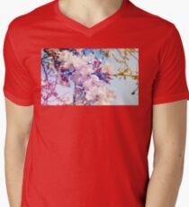 Cherry flowers Mens V-Neck T-Shirt