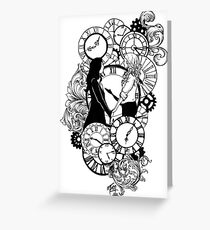Time Led Me To You (Line Art Version) Greeting Card