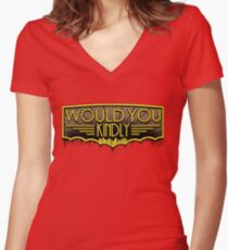 Would You Kindly Women's Fitted V-Neck T-Shirt
