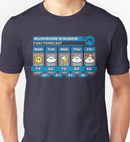 Mushroom Kingdom 5 Day Weather Forecast T-Shirt