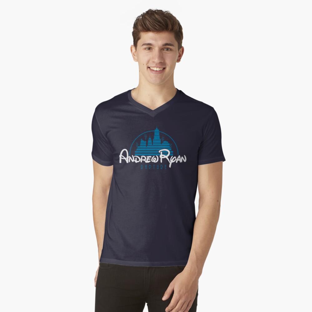 Andrew Ryan T-Shirt mit V-Ausschnitt