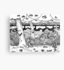 Forest of Illusion Drawing Canvas Print