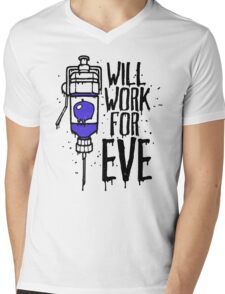 Will Work For Eve Mens V-Neck T-Shirt