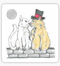 Romantic Cat Kiss Sticker