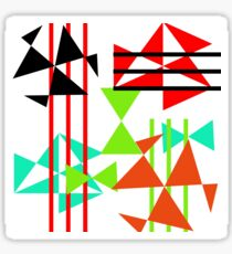 Trendy Bold Bright Colorful Abstract Geometric Design Sticker
