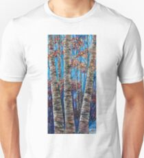 Aspen forest in the Rocky Mountains (Palette Knife) T-Shirt