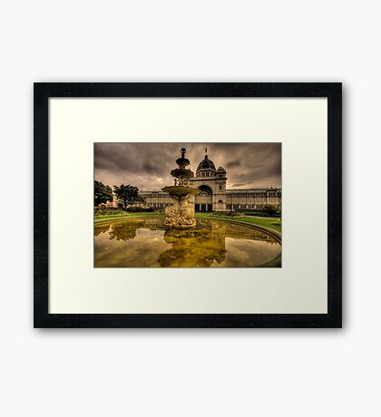 Victorian Majesty , Melbourne -Royal Exhibition Building & Carlton Gardens - The HDR Experience Framed Print