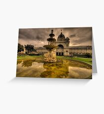 Victorian Majesty , Melbourne -Royal Exhibition Building & Carlton Gardens - The HDR Experience Greeting Card