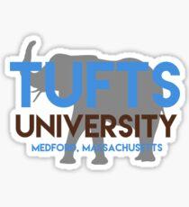 Tufts university with elephant Sticker