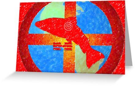 Earth Medicine-Salmon (Ripening Time) by Jan Landers