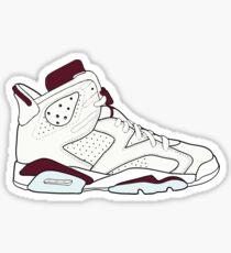 "Air Jordan VII (6) ""Maroon"" Sticker"