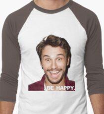 BE HAPPY. Men's Baseball ¾ T-Shirt