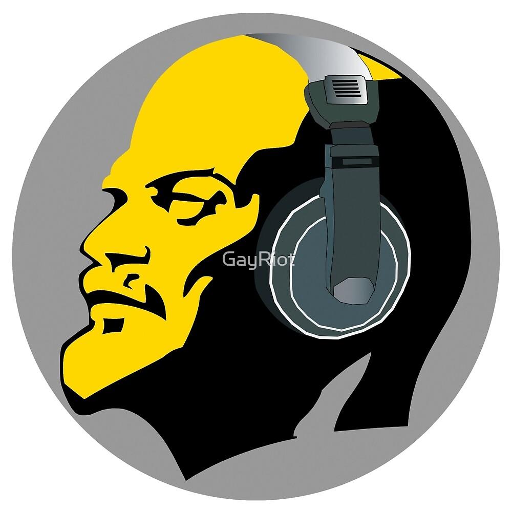 Lenin with Headphones by GayRiot
