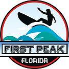 Surfing FIRST PEAK COCOA BEACH FLORIDA Surf Surfer Surfboard Waves Ocean Beach Vacation by MyHandmadeSigns