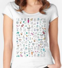 Colorful Pet Rescue Mosaic Women's Fitted Scoop T-Shirt