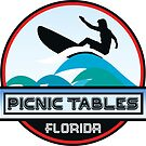 Surfing PICNIC TABLES COCOA BEACH FLORIDA Surf Surfer Surfboard Waves Ocean Beach Vacation by MyHandmadeSigns