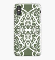 abstract ink pattern iPhone Case
