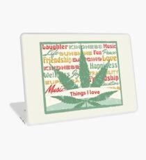 Cannabis Leaf Feelings Laptop Skin