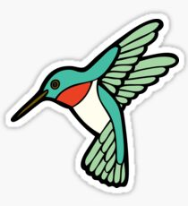 Hummingbird Pattern  Sticker