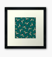 Hummingbird Pattern  Framed Print