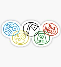 The Five Elements Sticker