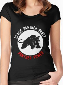 THE BLACK PANTHER PARTY Women's Fitted Scoop T-Shirt