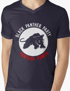 THE BLACK PANTHER PARTY Mens V-Neck T-Shirt