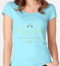 Fender - The Spirit of Rock 'N' Roll (Green) Women's Fitted Scoop T-Shirt