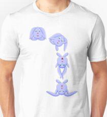 Blue Bunny Falling T-Shirt