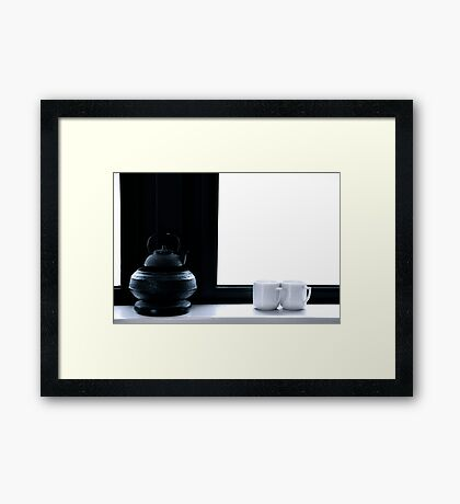 Tea for Two/Tone on Tone Framed Print