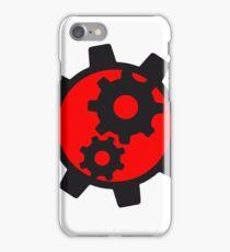 cool cogs design engine clockwork turn mechanically logo iPhone Case/Skin