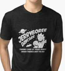 Rick and Morty Inspired Jerryboree Tri-blend T-Shirt