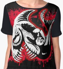 Feisty Fish Red and Black Chiffon Top