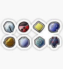 Johto League Pokemon Inspired Badges Sticker