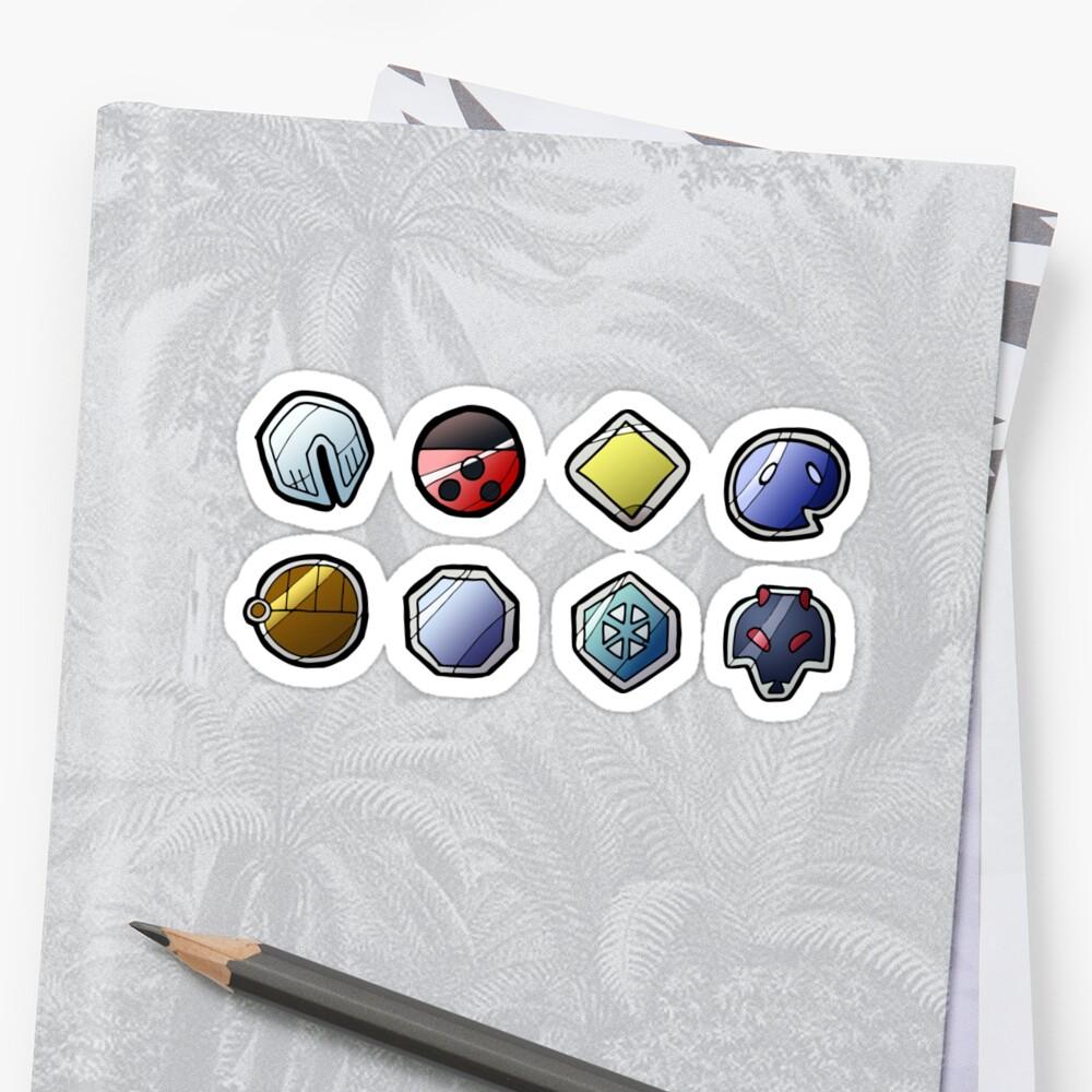 johto league pokemon inspired badges