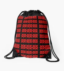 SquareSqure Celtic Knots in Red Drawstring Bag