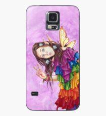Regenbogen-Frieden Fearie Hülle & Klebefolie für Samsung Galaxy