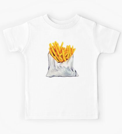 French Fries Pattern Kids Clothes
